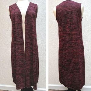 LuLaRoe Simply Comfortable burgundy tunic vest XS